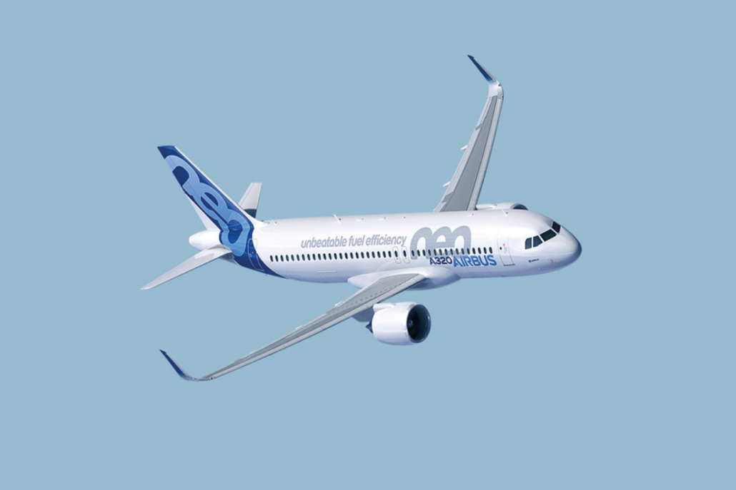 The featured plane of Airbus