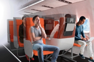 Possible new airplanes seats distribution